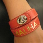 Coach Accessories Leather Bracelet Legacy Monogram